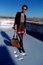 loosey goosey Forever21 sweater - boys thrifted blazer - thigh high walgreens ti