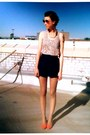 Light-pink-floral-target-tights-navy-silk-tap-forever21-shorts-light-yellow-