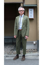 1205 suit - Clarks boots - Thom Browne shirt - Thom Browne tie