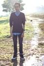 Levis-595-jeans-topman-shirt-h-m-jumper-vans-halfcab-sneakers