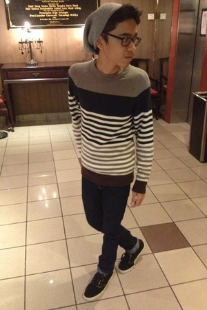 H&M hat - H&M jumper - Levis 595 pants - EMERICA sneakers
