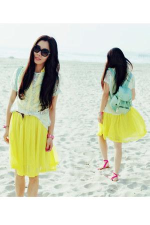 Zara t-shirt - H&M dress - backpack asos bag - Chanel sunglasses - Zara sandals