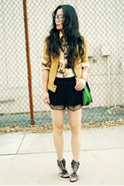 diy tie dye shirt - sequined dvf shorts - Sigerson Morrison sandals