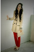 River Island coat - River Island pants - CCSKYE bag - Bandolino shoes