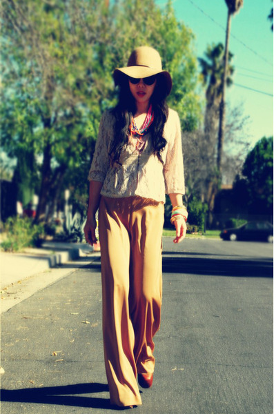 floppy felt Cartazi hat - Jeffrey Campbell boots - Zara sunglasses