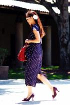 polka dot asos dress - Prada bag