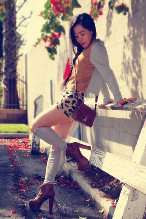 H&M bag - lita Jeffrey Campbell boots - Urban Outfitters shorts - H&M top
