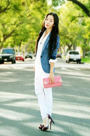 Zara blazer - Silence & Noise jeans - H&M blouse - clutch Aldo accessories