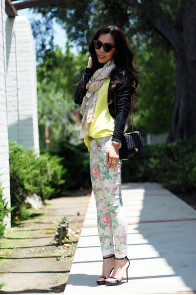 asos jeans - H&M jacket - Chanel bag - Zara heels