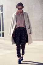 Alexander Wang pumps - H&M coat - American Apparel shirt - Zara pants