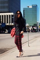 tartan JCrew pants - Jimmy Choo pumps