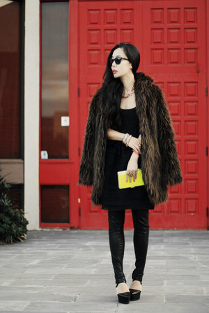 asos coat - Camilla and Marc dress - Target bag - Thenskens theory wedges