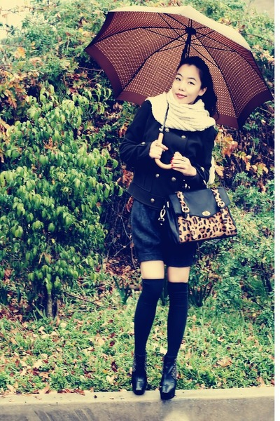 Zara jacket - vintage shorts - asos bag - sam edelman boots - Louis Vuitton acce