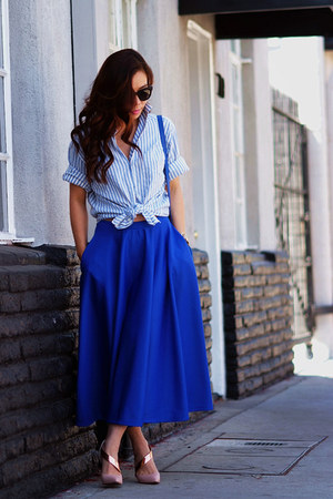 vintage shirt - Celine bag - asos skirt