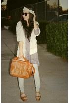 Rebecca Taylor sweater - Zara dress - a&f leggings - Jeffrey Campbell shoes - wa