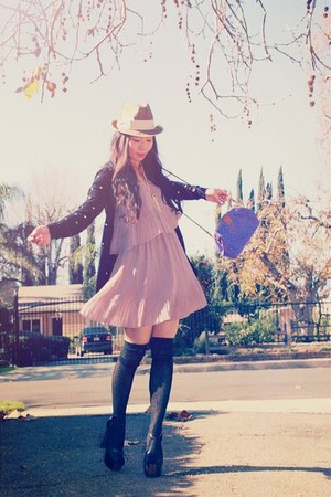 Jessica Simpson heels - Forever21 dress - Nordstrom hat - Forever21 sweater