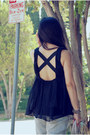 Heather-gray-old-levis-jeans-miu-miu-bag-black-larok-top-fringed-bernardo-