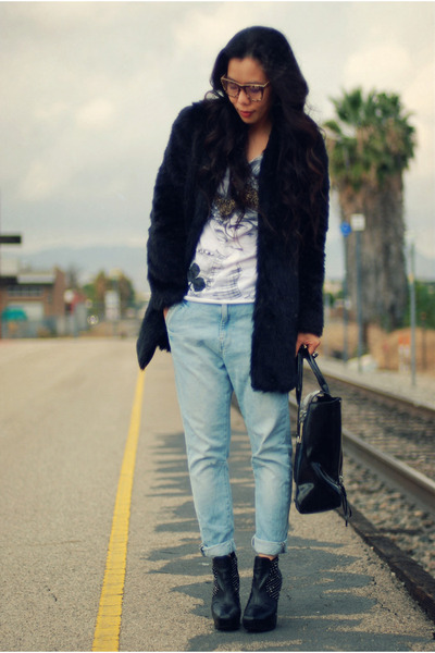 Zara coat - sam edelman boots - proopticals glasses