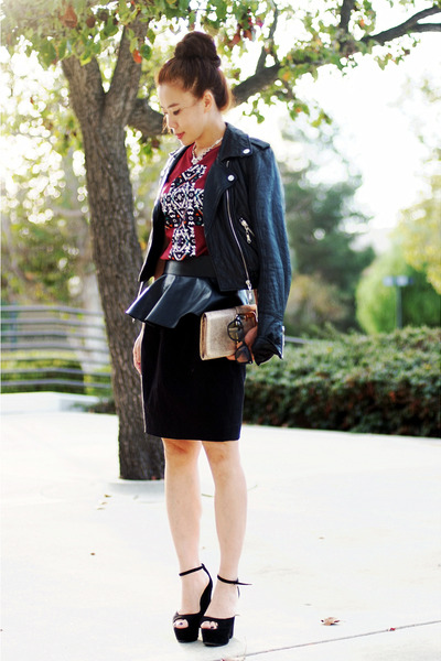 Zara belt - River Island jacket - Celine wedges