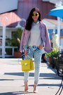 Zara-jeans-bebe-jacket-guess-bag-zara-sandals