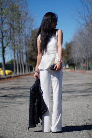 ADAM pants - Zara bag - peplum Zara top