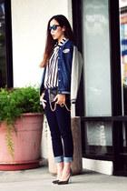 Topshop jacket - dl1961 jeans - Jimmy Choo heels