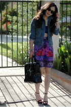 Oasis skirt - denim jacket Levis jacket - 31 Phillip Lim bag - Zara heels