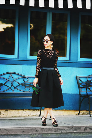 Zara top - asos skirt - Reiss heels