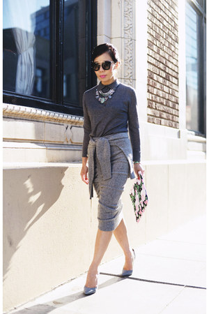 cashmere sweater - knit skirt