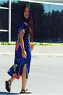 Blue-silk-zara-dress-payless-shoes-sandals