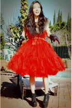 lita Jeffrey Campbell boots - red Lanvin for H&M dress - leather Lanvin for H&M