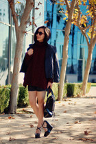 Zara sweater - Zara jacket - H&M sunglasses - TheySkens Theory wedges