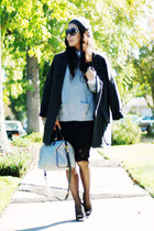 31 philip lim sweater - H&M coat - Louis Vuitton bag - Zara skirt