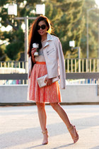 lulus jacket - Zara heels