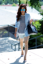 Zara blazer - DIY shorts - Jimmy Choo heels