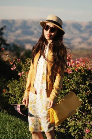 asos dress - Zara bag - Karen Walker sunglasses