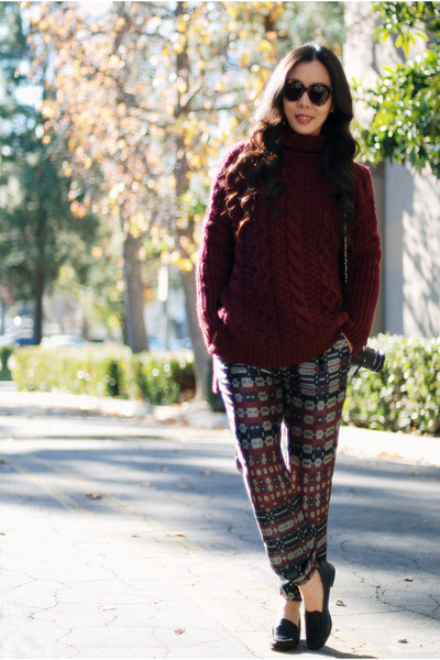Zara sweater - Zara pants - Chanel flats