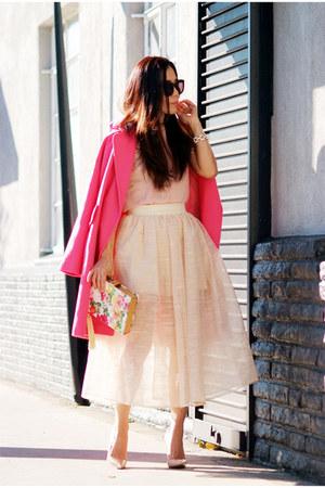 asos coat - Christian Louboutin heels