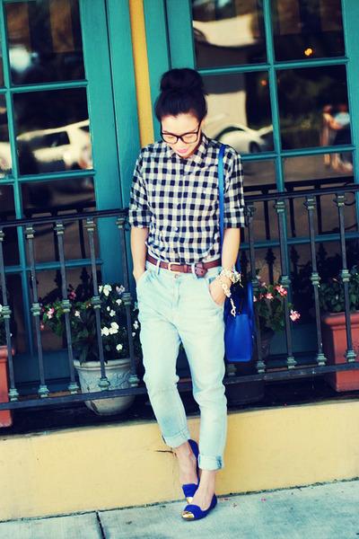madewell shirt - Zara jeans - DV by dolce vita flats