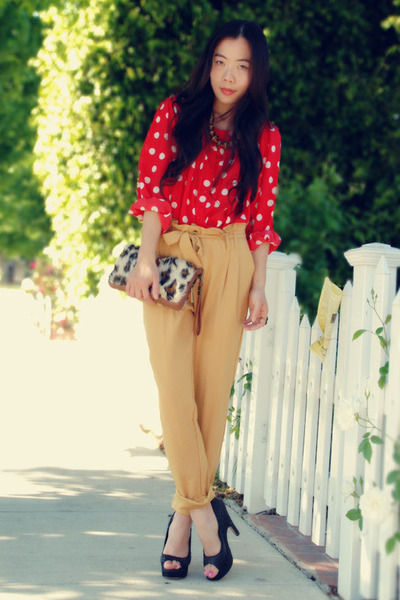 Red Polka Dot H&m Blouse