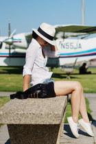 DPC hat - Zara shirt - Lacoste sneakers