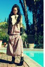 Zara-dress-thory-jacket-forever21-scarf-bamboo-wedges-lanvin-for-h-m-glo