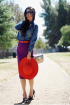 vintage skirt - Miu Miu heels