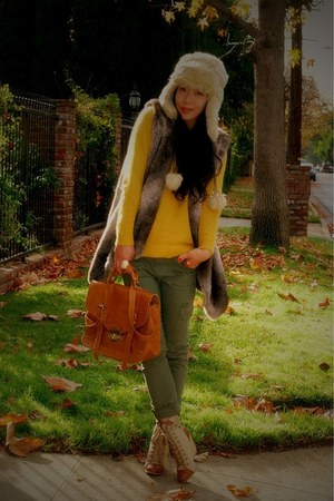River Island hat - coconut boots - H&amp;M sweater - asos bag - cargo Target pants
