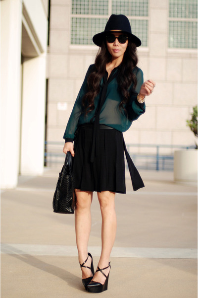 Zara skirt - Zara blouse - Theyskens Theory wedges