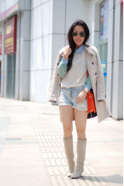 Zara coat - Ray Ban sunglasses