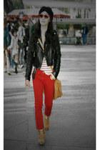 River Island jacket - River Island pants - Topshop boots - asos bag - Ray Ban su