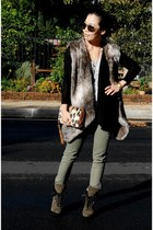 Zara vest - Bakers bag - Jessica Simpson shoes - Target KiD pants