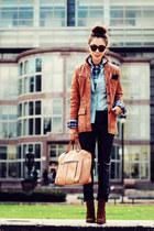 leather vintage blazer - leopard print Zara boots