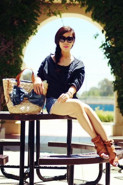 RED valentino bag - Zara top - Chloe sandals